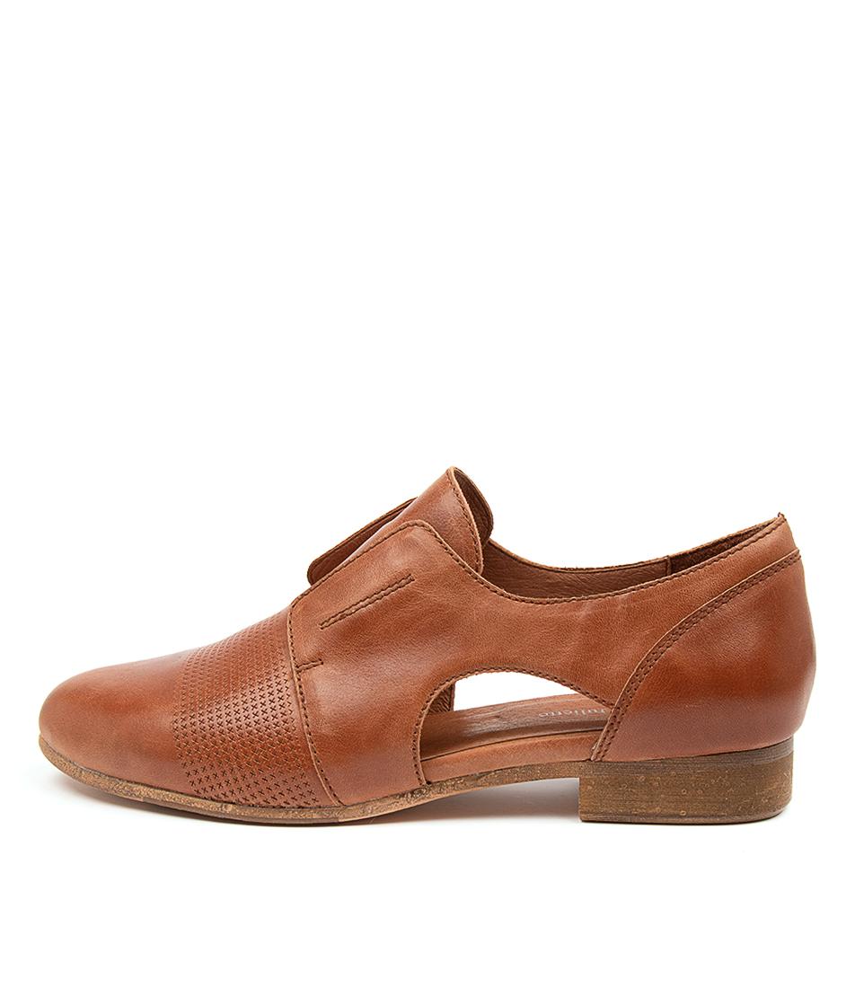 Buy Django & Juliette Rozzer Dj Cognac Flats online with free shipping