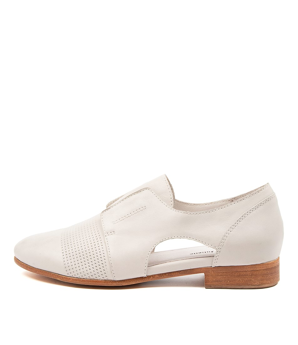 Buy Django & Juliette Rozzer Dj Winter White Flats online with free shipping