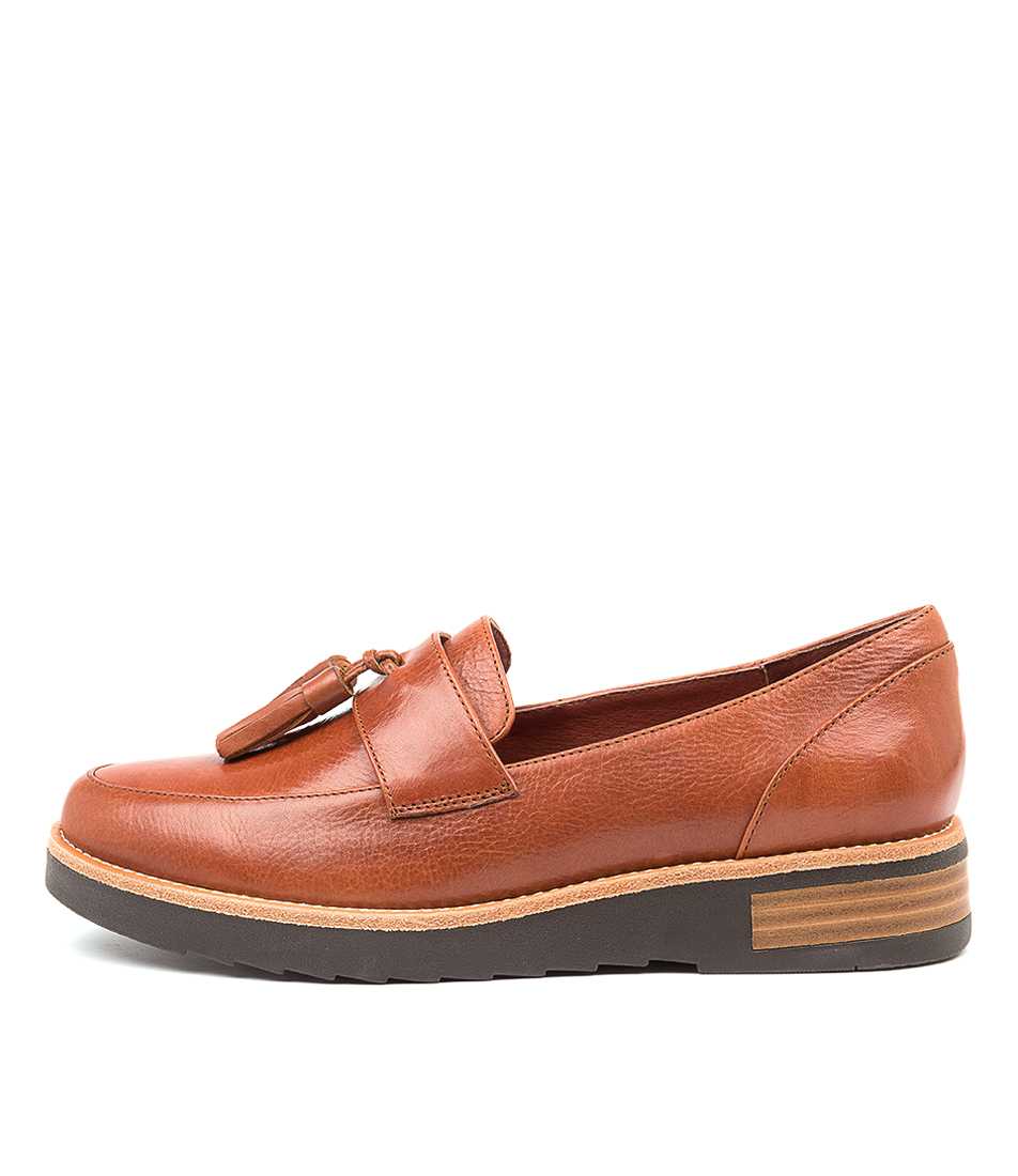 Buy Django & Juliette Riller Dj Cognac Choc Sole Flats online with free shipping