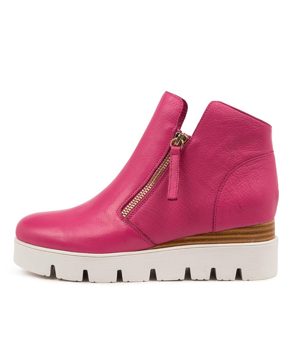 Buy Django & Juliette Radio Dj Fuchsia Ankle Boots online with free shipping
