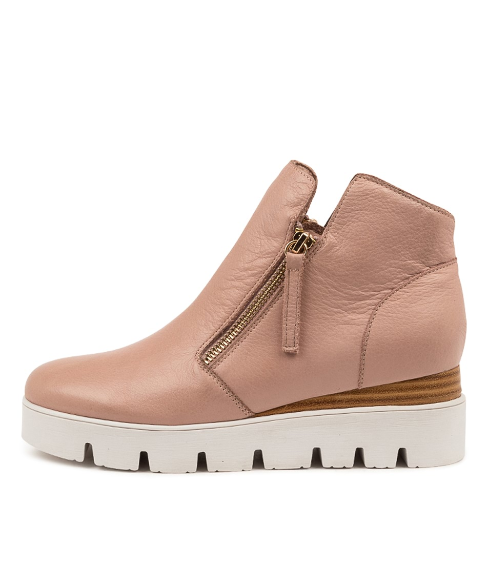 Buy Django & Juliette Radio Dj Warm Rose White Sole Ankle Boots online with free shipping