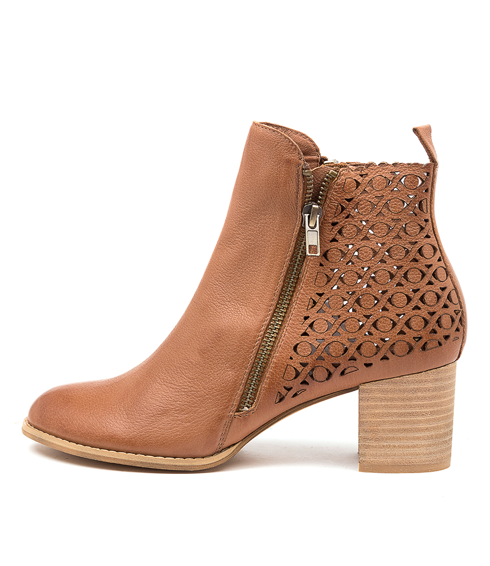 Buy Django & Juliette Sally Dj Cognac Ankle Boots online with free shipping