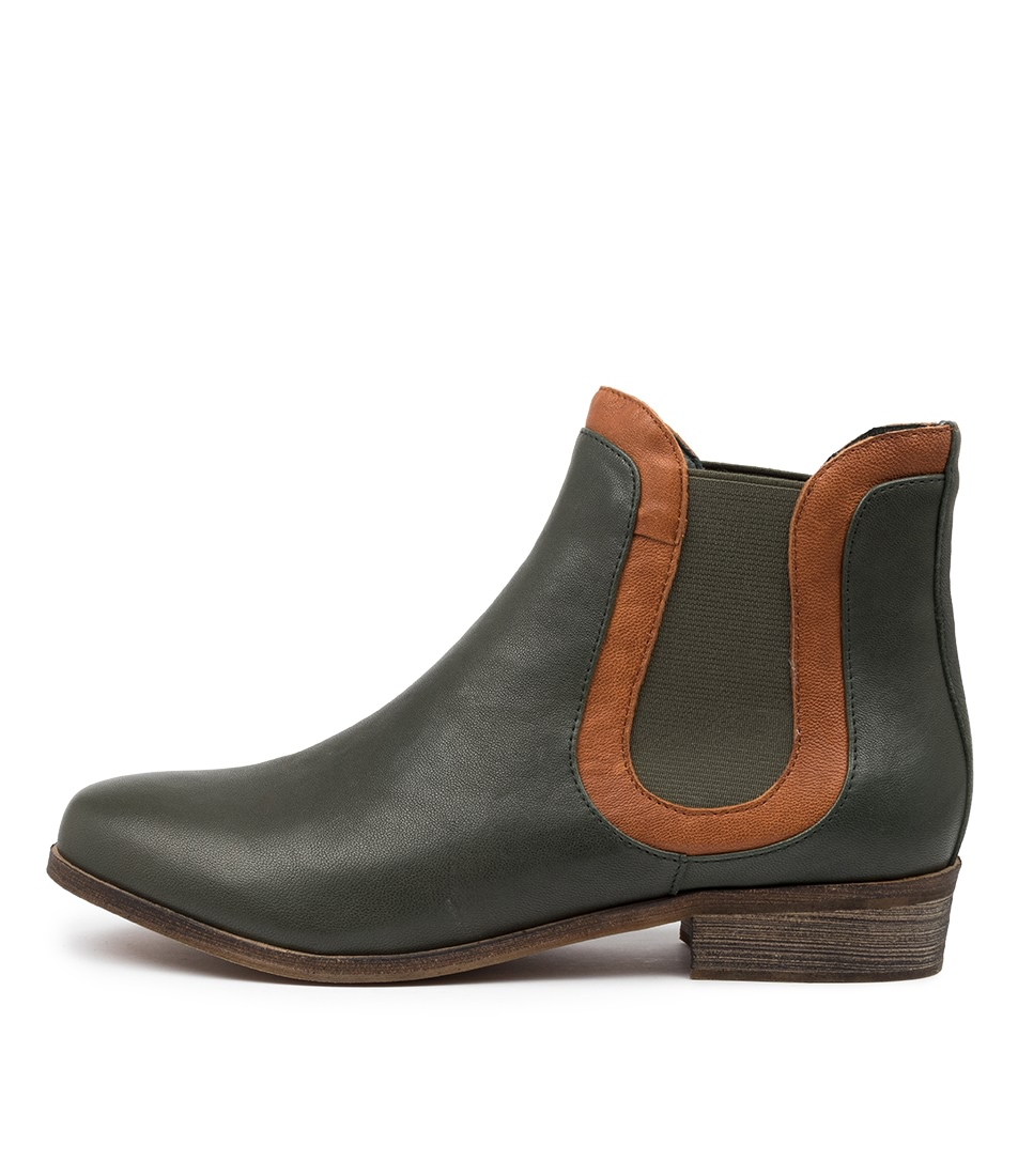 Buy Django & Juliette Saffi Dj Forest Tan Ankle Boots online with free shipping
