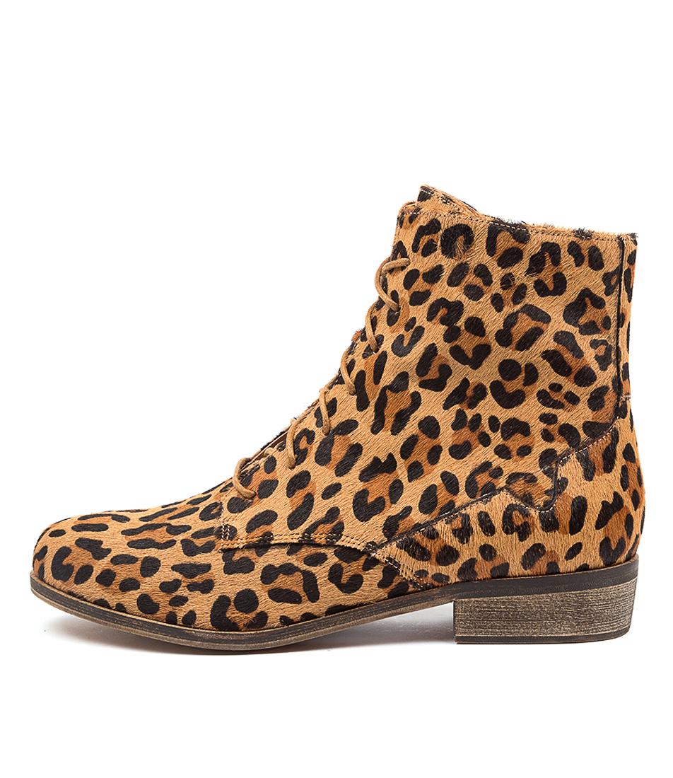 Buy Django & Juliette Sabra Dj Leopard Ankle Boots online with free shipping