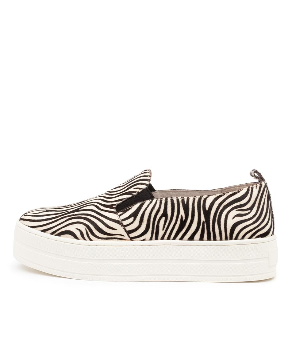 Buy Django & Juliette Sina Dj White Zebra Flats online with free shipping