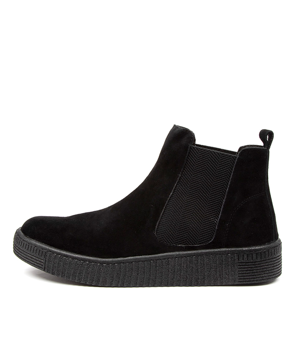 Buy Django & Juliette Toni Dj Black Sole Ankle Boots online with free shipping