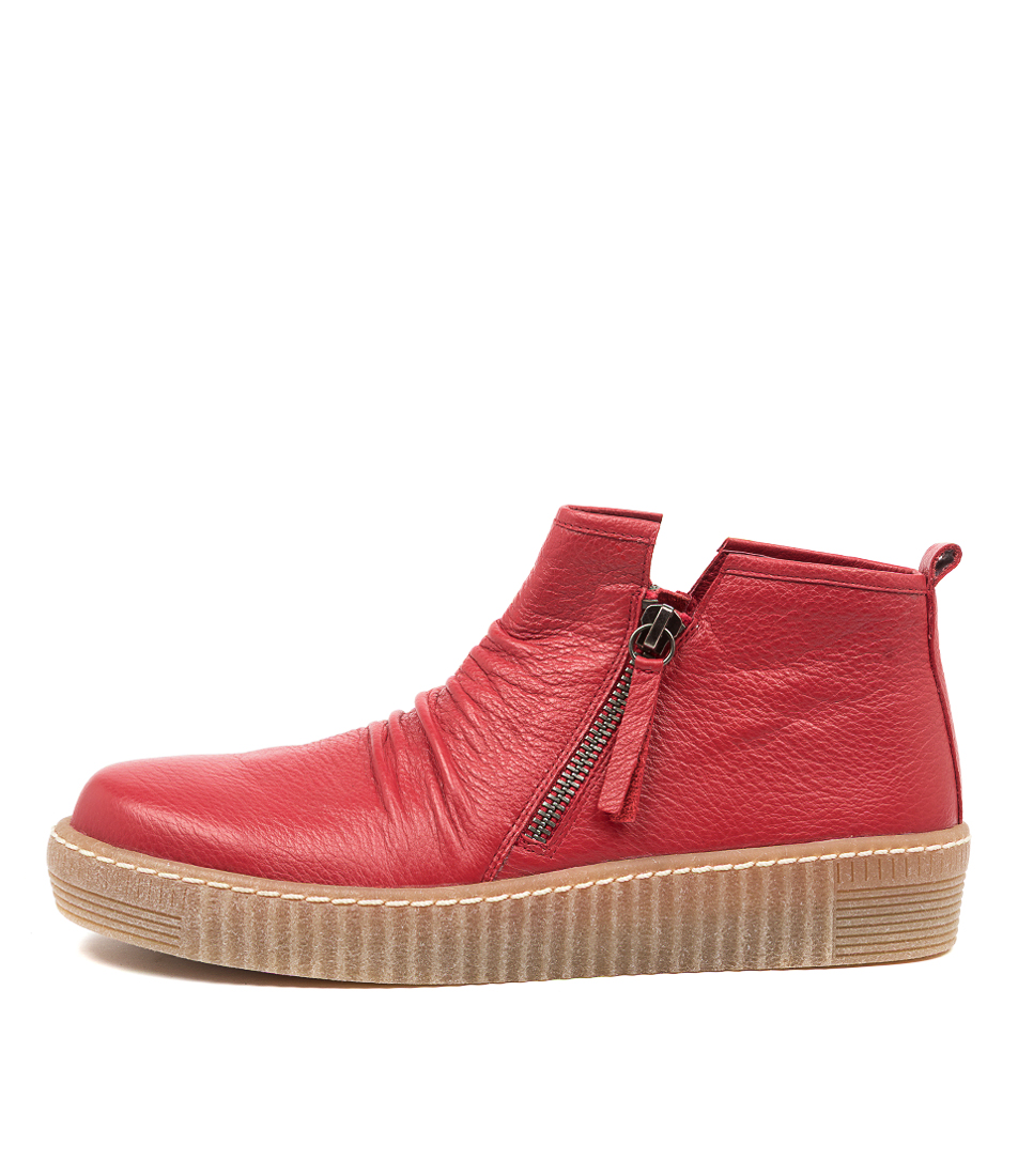 Buy Django & Juliette Trevon Dj Red Ankle Boots online with free shipping