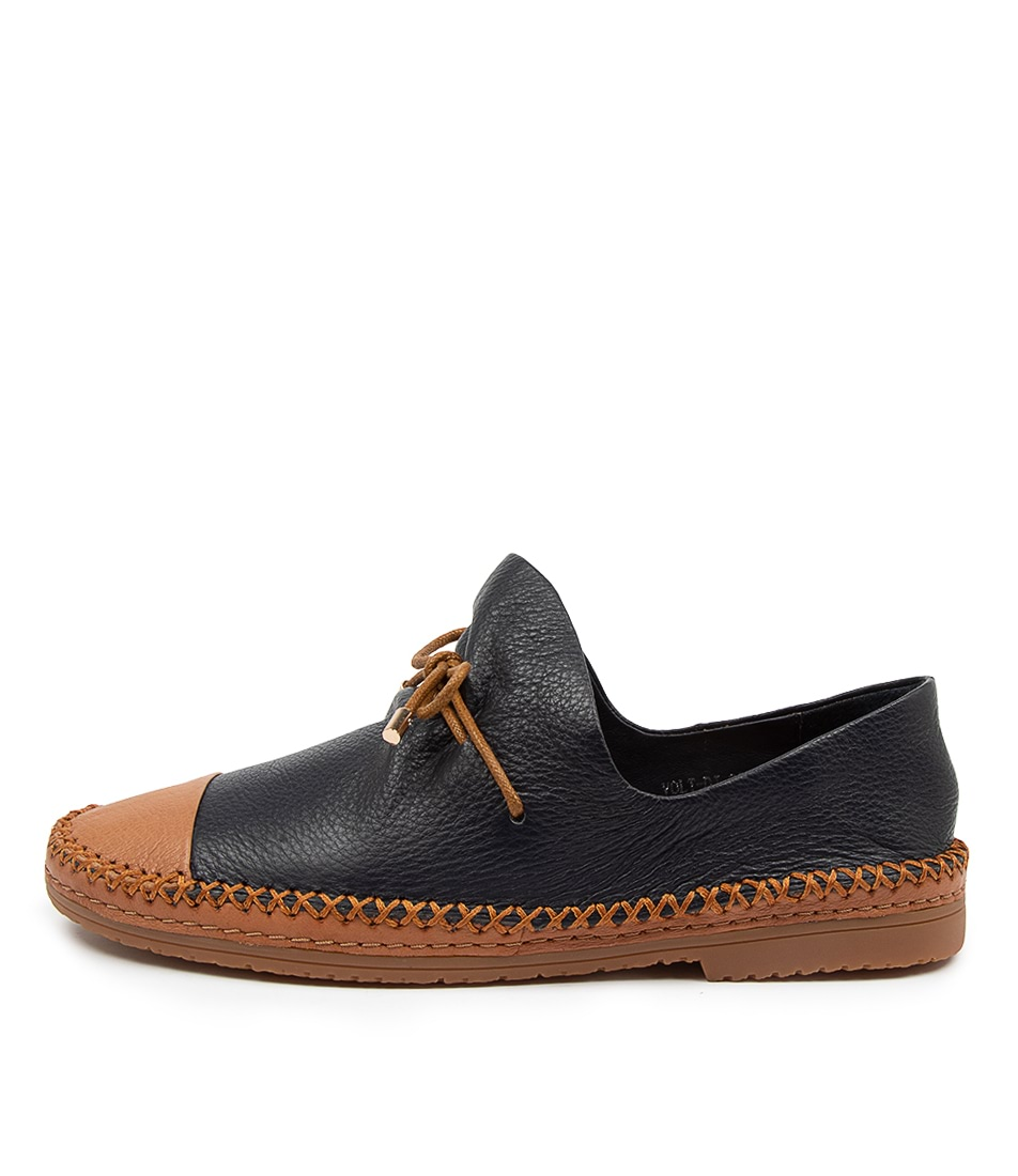 Buy Django & Juliette Volt Dj Dk Tan Navy Flats online with free shipping