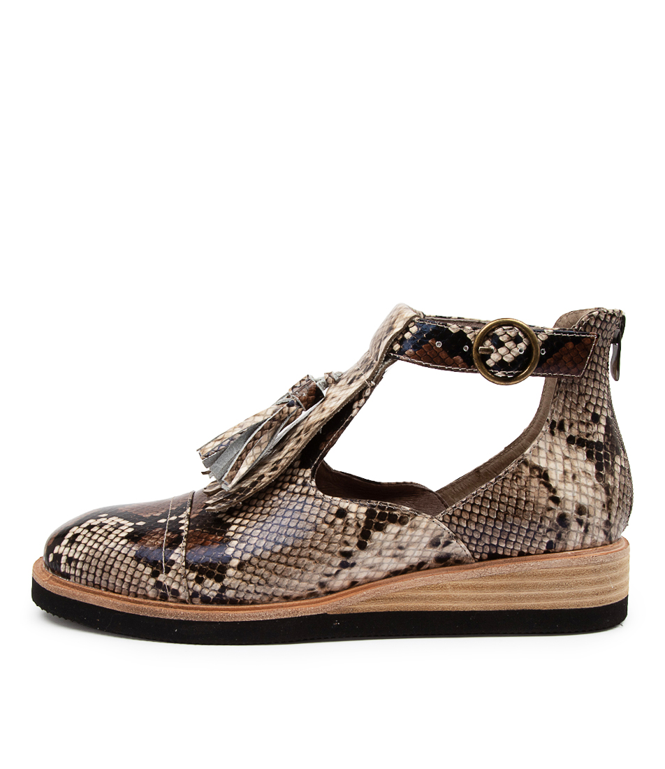 Buy Django & Juliette Virgess Dj Choc Multi Flats online with free shipping
