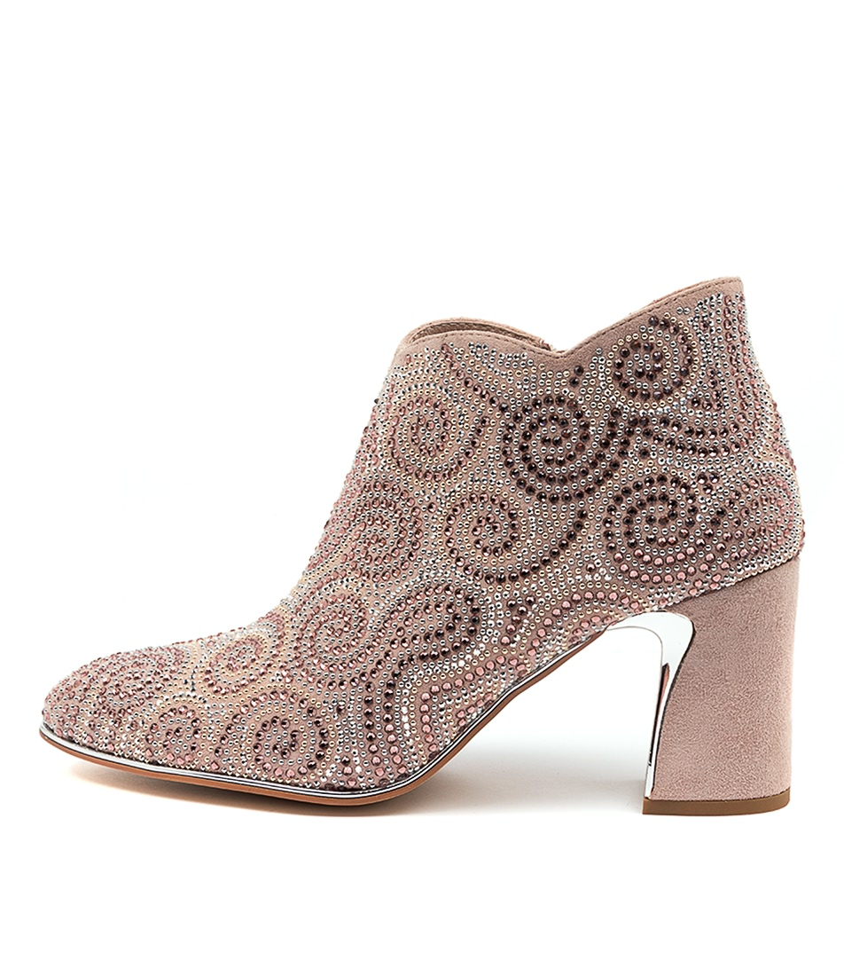 Buy Django & Juliette Kathy Dj Dusty Pink Ankle Boots online with free shipping