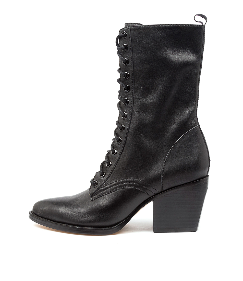Buy Django & Juliette Major Dj Black Heel Calf Boots online with free shipping