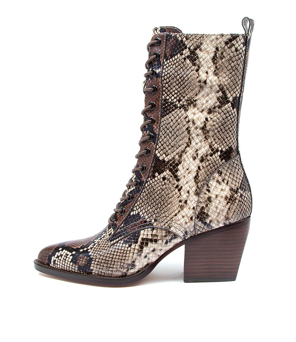 Buy Django & Juliette Major Dj Choc Multi Dress Calf Boots online with free shipping