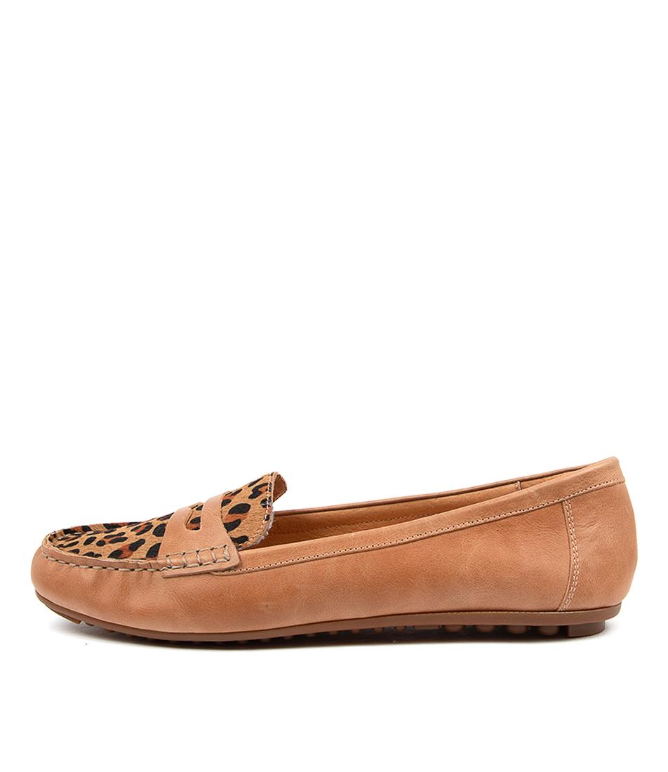 Buy Django & Juliette Barrie Djl Tan Tan Leopard Flats online with free shipping