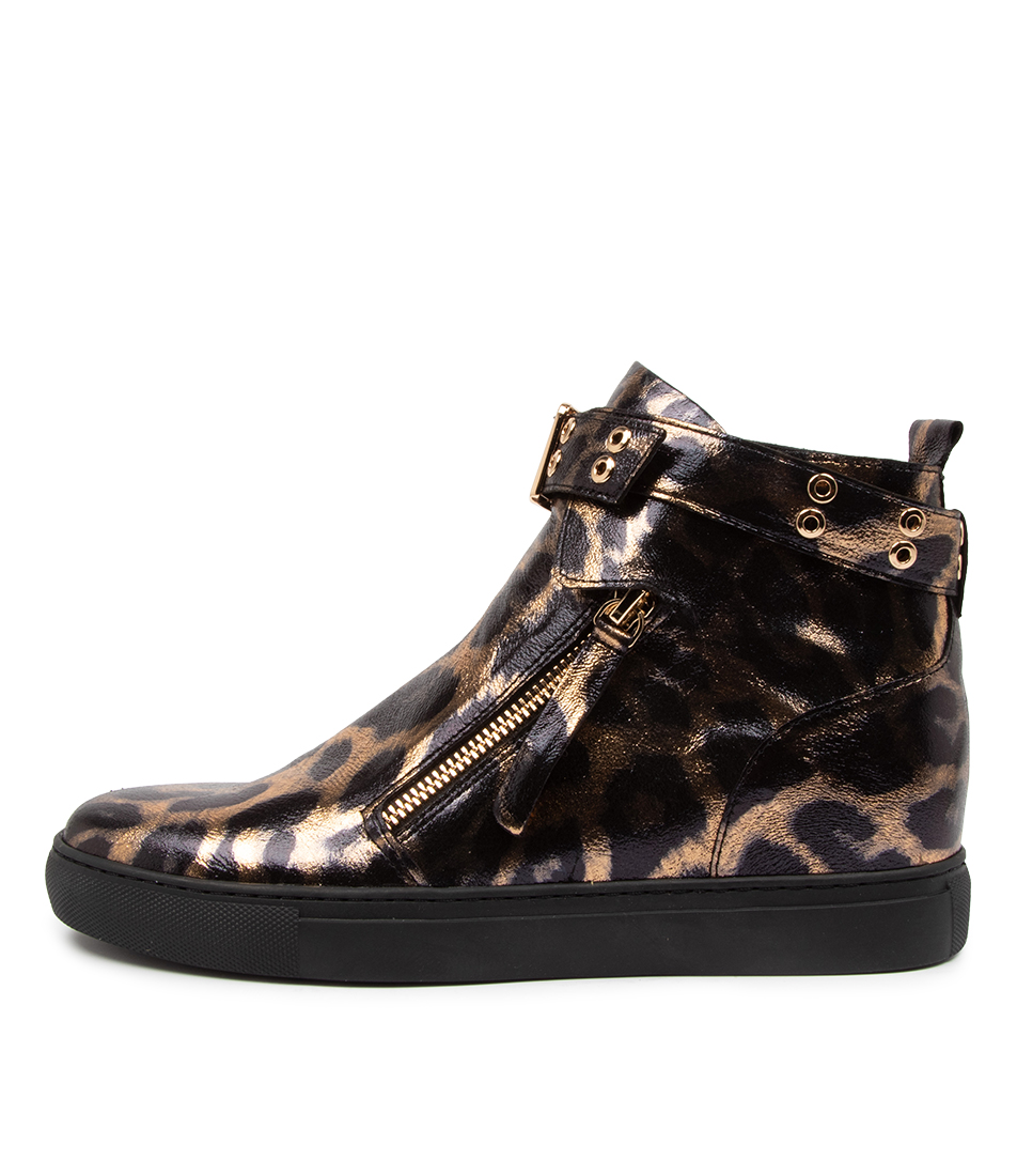 Buy Django & Juliette Grizly Dj Ocelot Print Ankle Boots online with free shipping