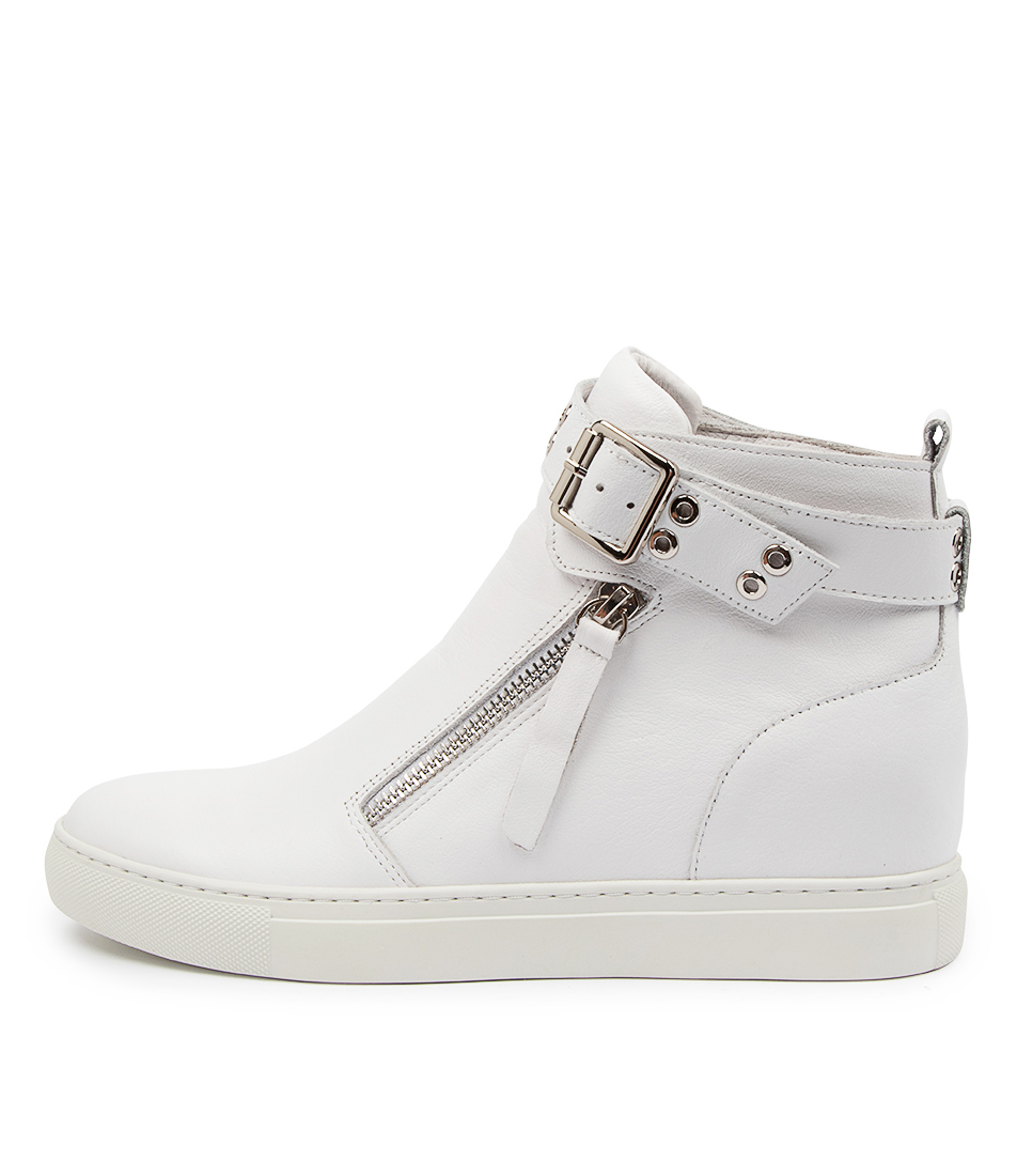 Buy Django & Juliette Grizly Dj White Ankle Boots online with free shipping