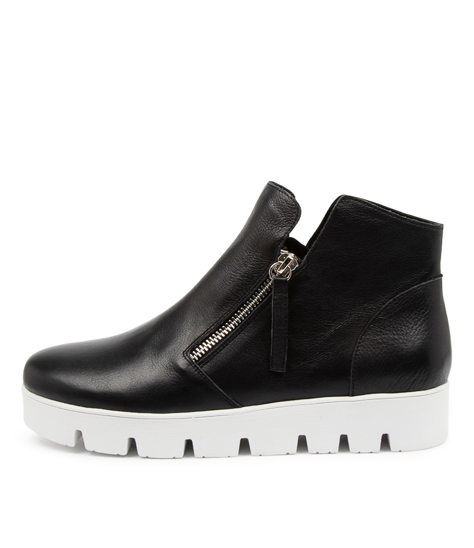 Buy Django & Juliette Gotham Dj Black White Sole Ankle Boots online with free shipping
