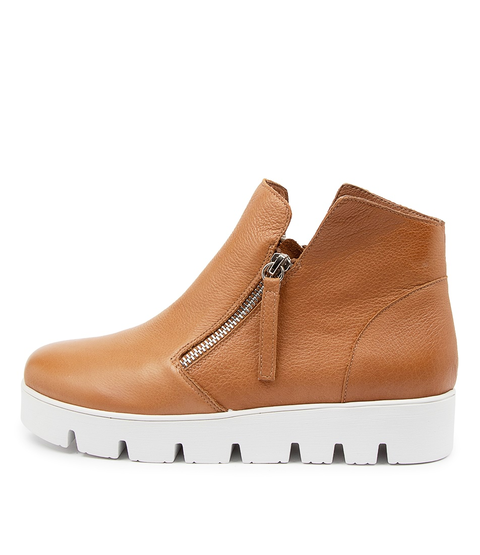 Buy Django & Juliette Gotham Dj Dk Tan Ankle Boots online with free shipping