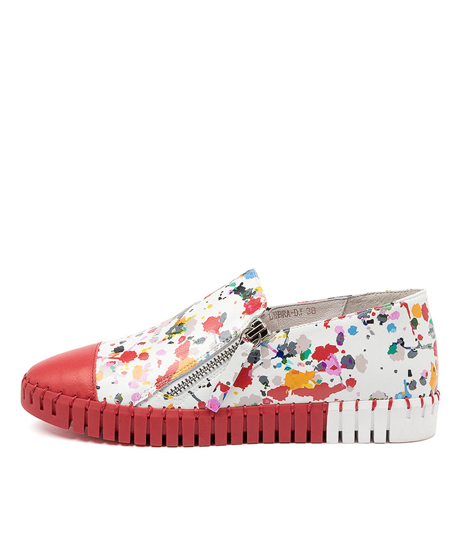 Buy Django & Juliette Lubra Dj Red Paint Red Sneakers online with free shipping