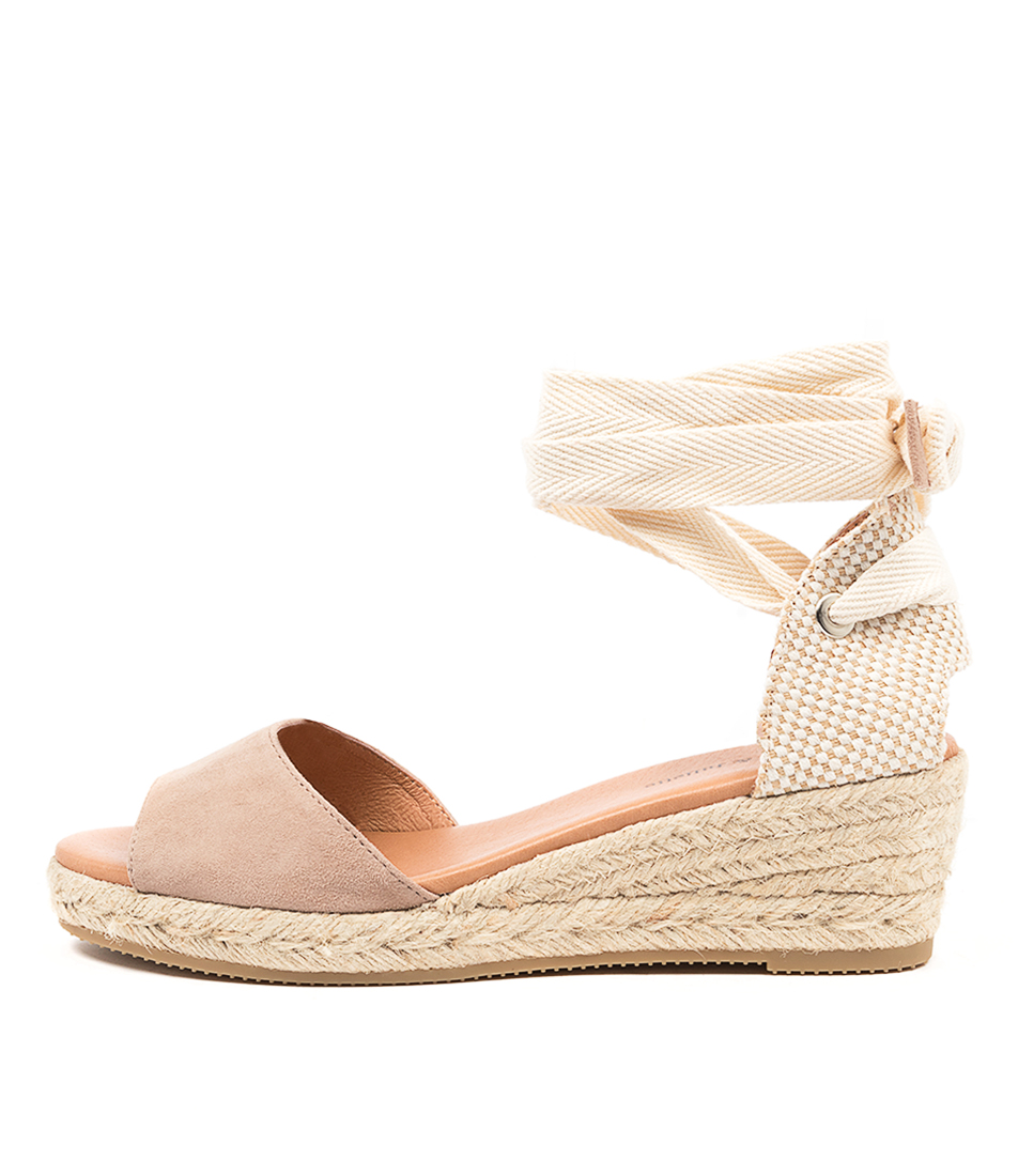 Buy Django & Juliette Skuzzy Dj Taupe Heeled Sandals online with free shipping
