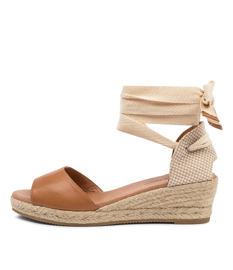 Buy Django & Juliette Skuzzy Dj Dk Tan Heeled Sandals online with free shipping