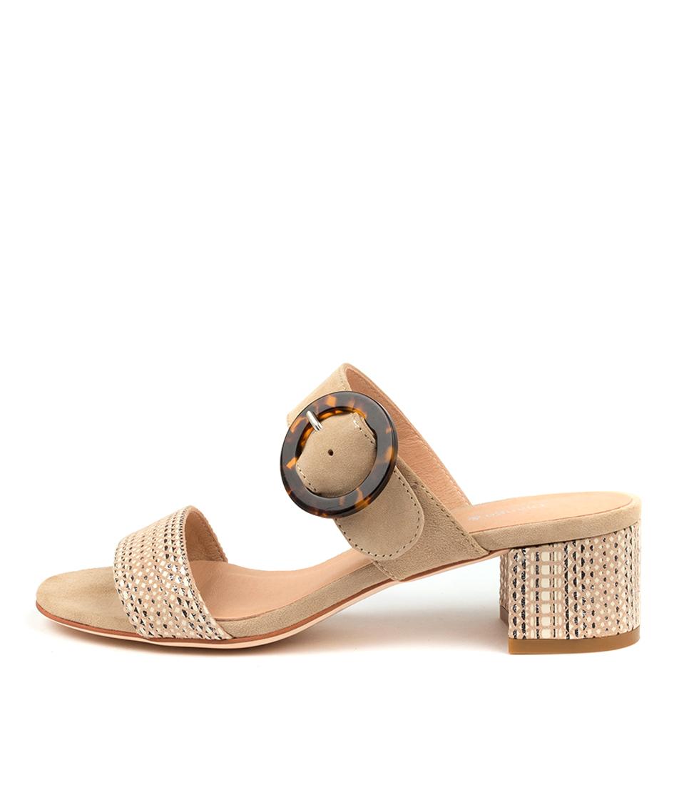 Buy Django & Juliette Aleena Dj Latte & Nude Latte Heeled Sandals online with free shipping