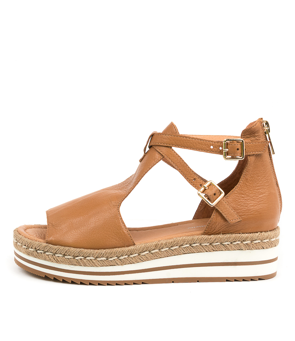 Buy Django & Juliette Alexys Dj Dk Tan Flat Sandals online with free shipping