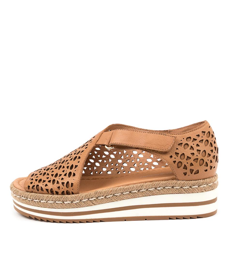 Buy Django & Juliette Alkiet Dj Dk Tan Flat Sandals online with free shipping