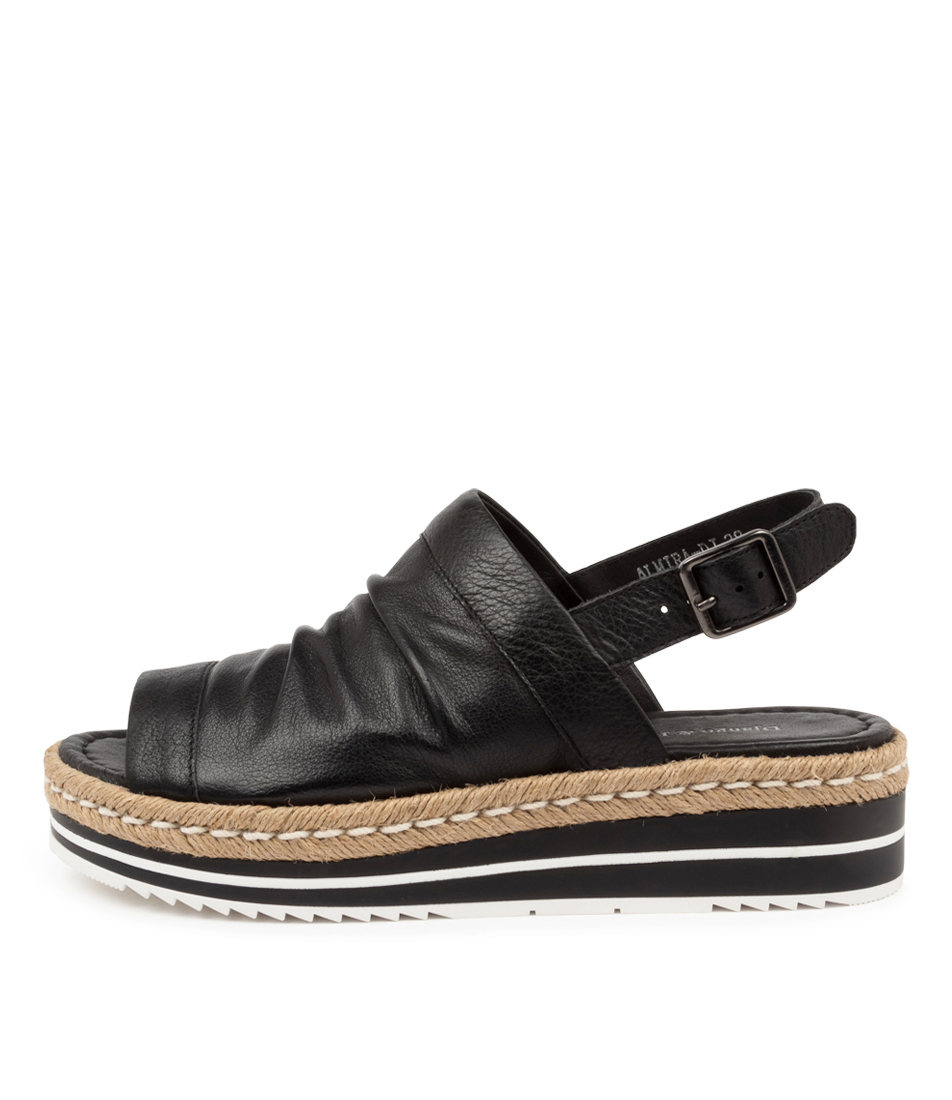 Buy Django & Juliette Almira Dj Black Flat Sandals online with free shipping