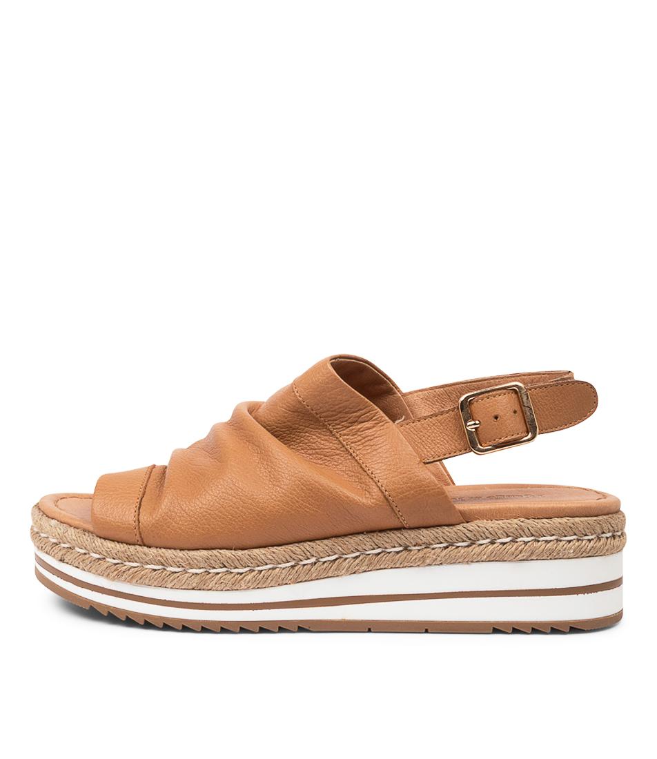 Buy Django & Juliette Almira Dj Dk Tan Flat Sandals online with free shipping