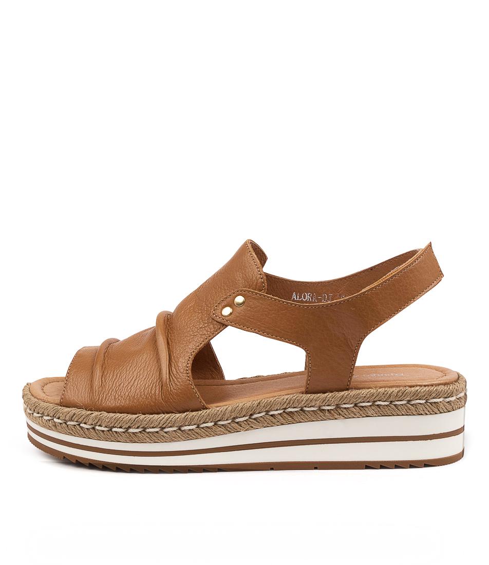Buy Django & Juliette Alora Dj Dk Tan Flat Sandals online with free shipping