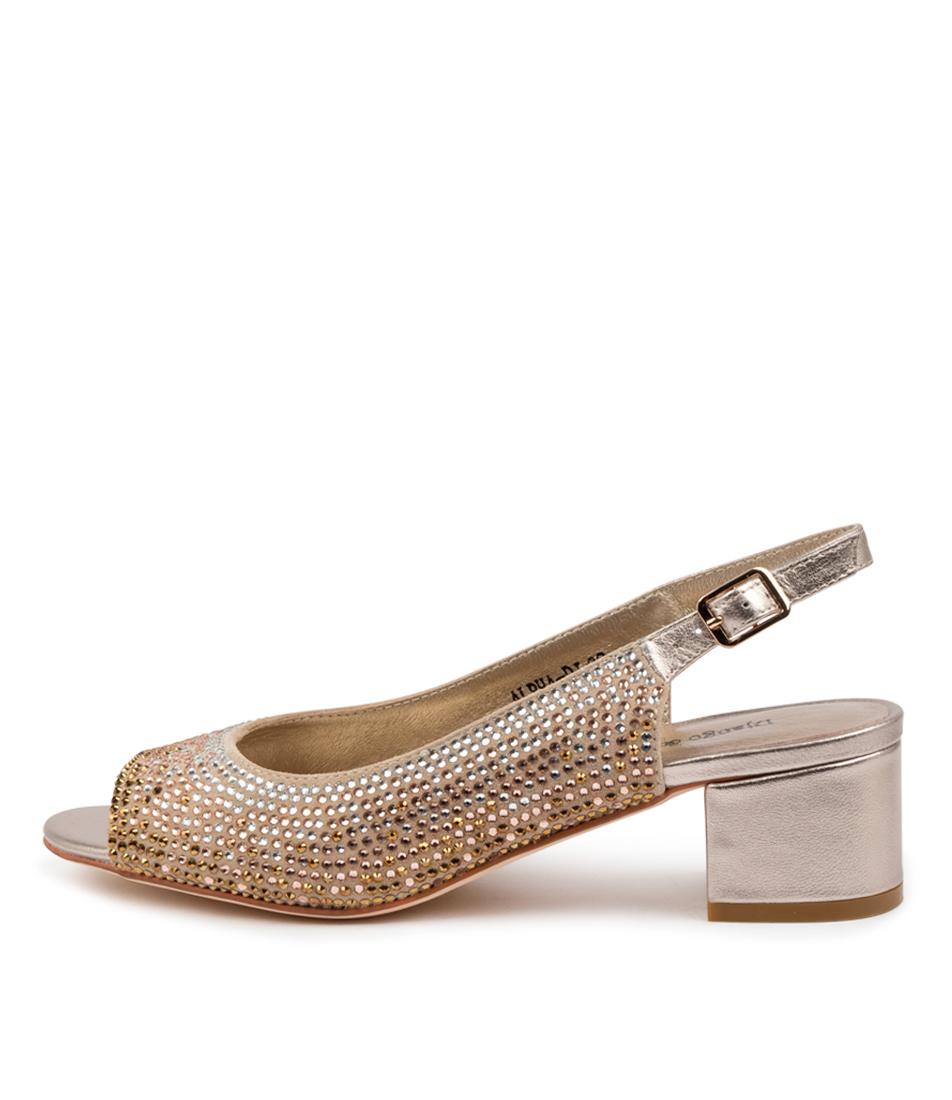 Buy Django & Juliette Alpha Dj Champagne Heeled Sandals online with free shipping