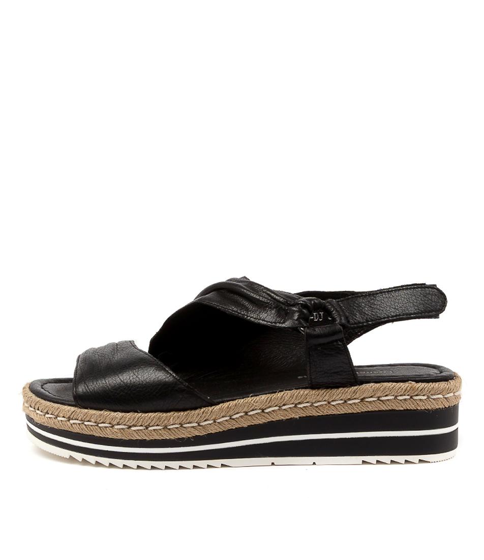 Buy Django & Juliette Angie Dj Black Flat Sandals online with free shipping