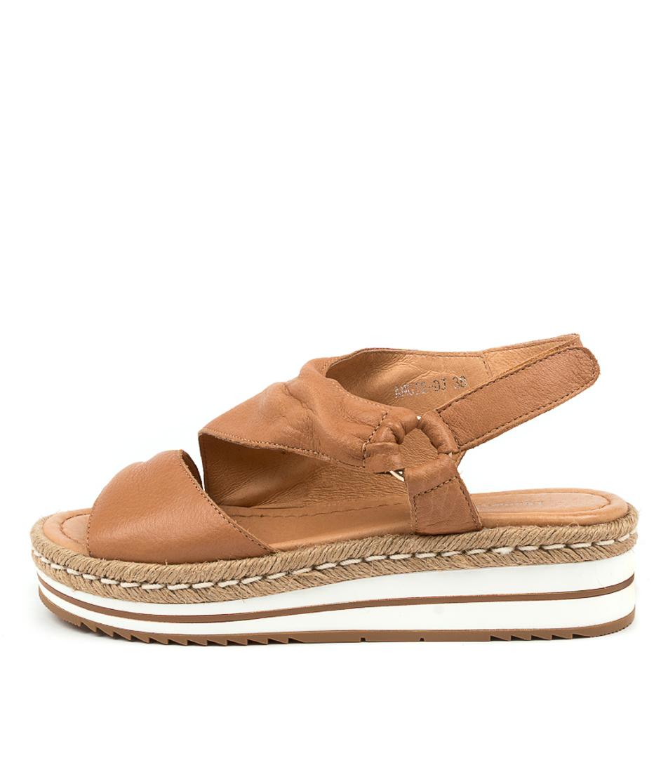 Buy Django & Juliette Angie Dj Dk Tan Flat Sandals online with free shipping