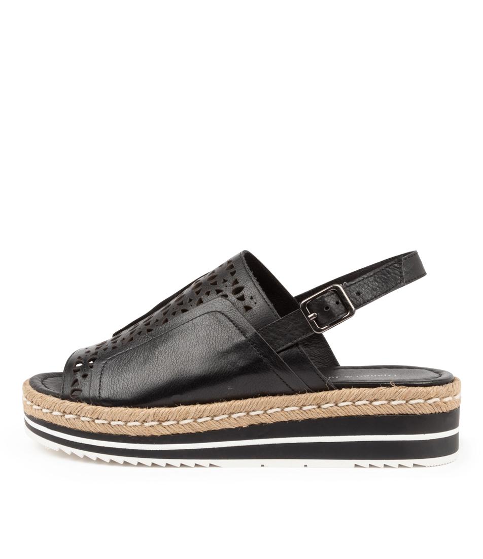 Buy Django & Juliette Anton Dj Black Flat Sandals online with free shipping