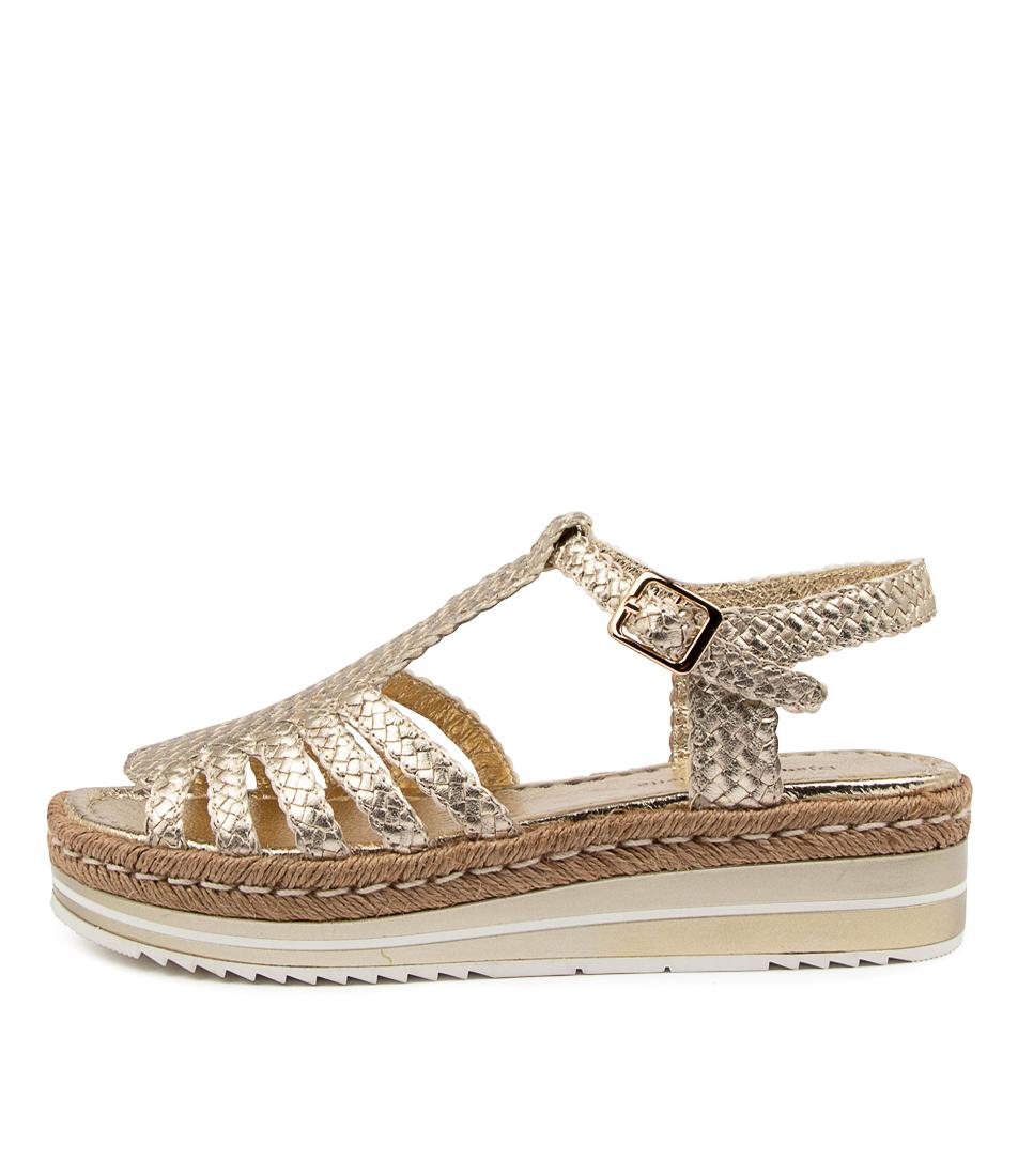 Buy Django & Juliette Arcus Dj Pale Gold Flat Sandals online with free shipping