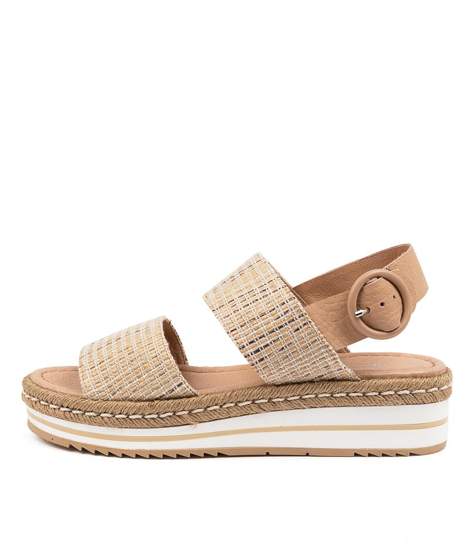 Buy Django & Juliette Arts Dj Natural Dk Tan Flat Sandals online with free shipping