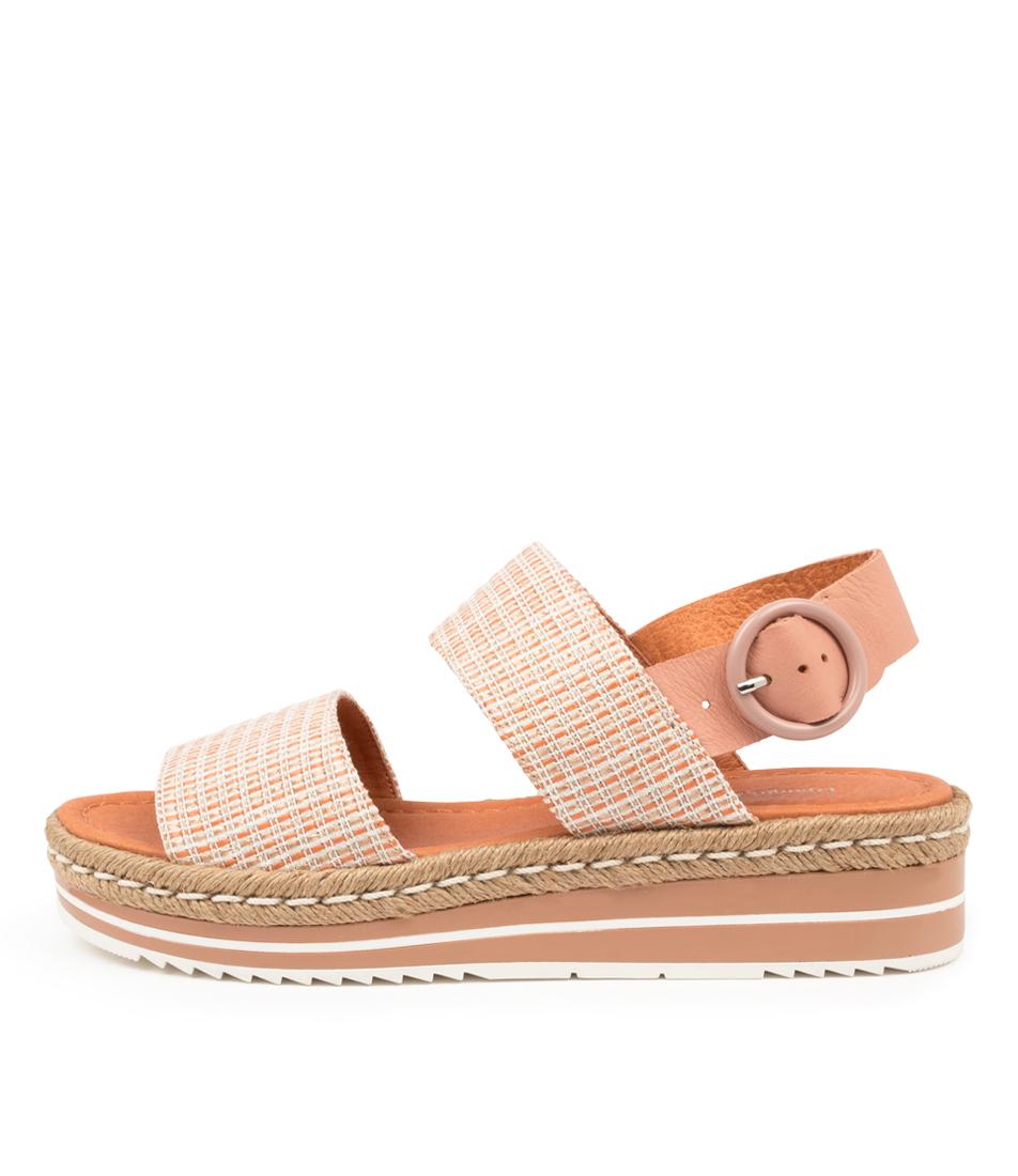 Buy Django & Juliette Arts Dj Cantaloupe Cantaloupe Flat Sandals online with free shipping