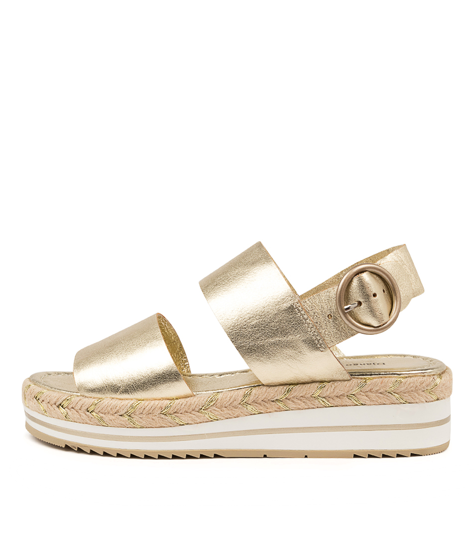 Buy Django & Juliette Athart Dj Pale Gold Flat Sandals online with free shipping