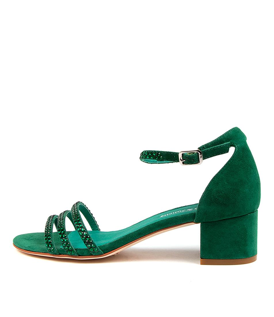 Buy Django & Juliette Atleast Dj Emerald Heeled Sandals online with free shipping