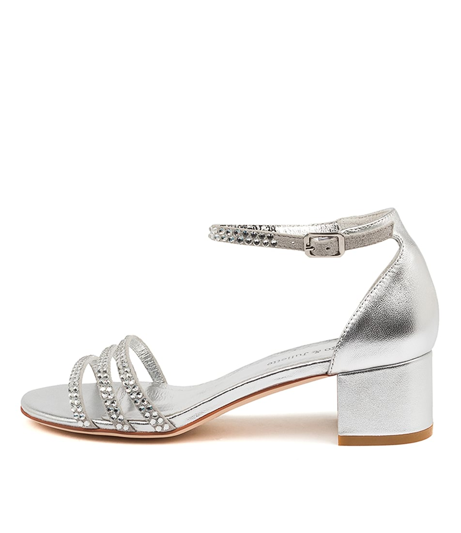 Buy Django & Juliette Atleast Dj Silver Heeled Sandals online with free shipping