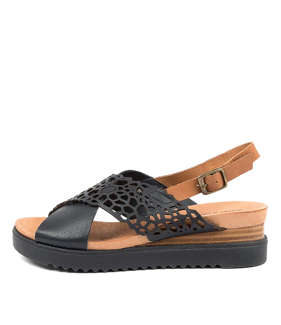 Buy Django & Juliette Auston Dj Navy Dk Tan Navy Flat Sandals online with free shipping