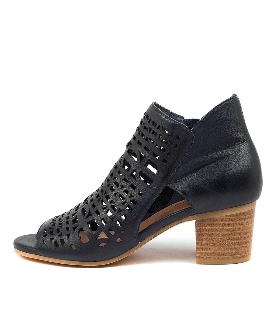 Buy Django & Juliette Birdie Dj Navy Heeled Sandals online with free shipping