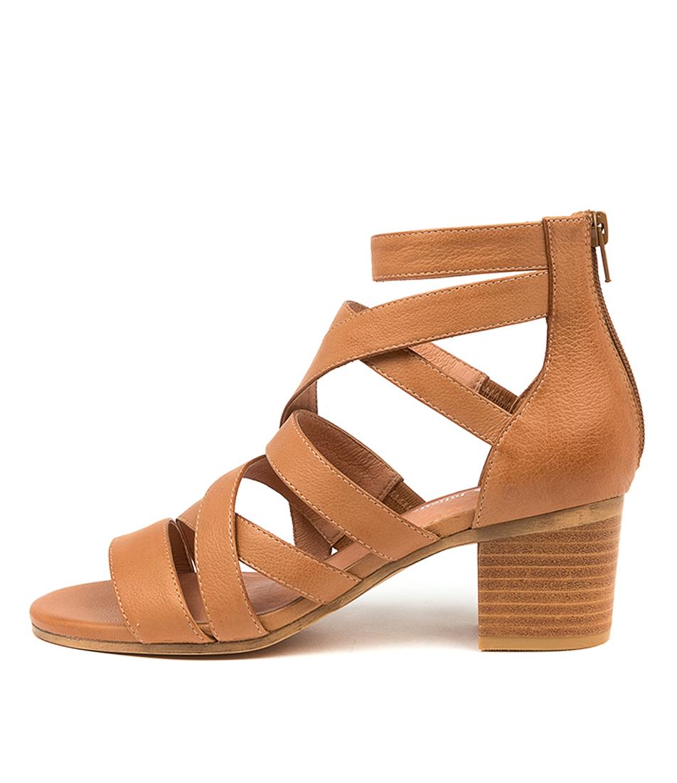 Buy Django & Juliette Birly Dj Dk Tan Heeled Sandals online with free shipping