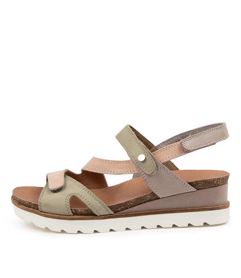 Buy Django & Juliette Brad Dj Latte Multi Sandals Flat Sandals online with free shipping
