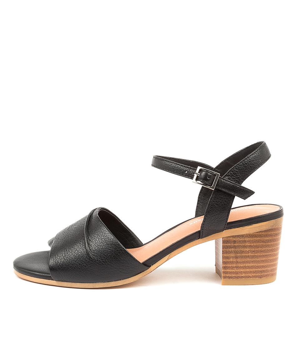 Buy Django & Juliette Brave Dj Black Natural Heeled Sandals online with free shipping