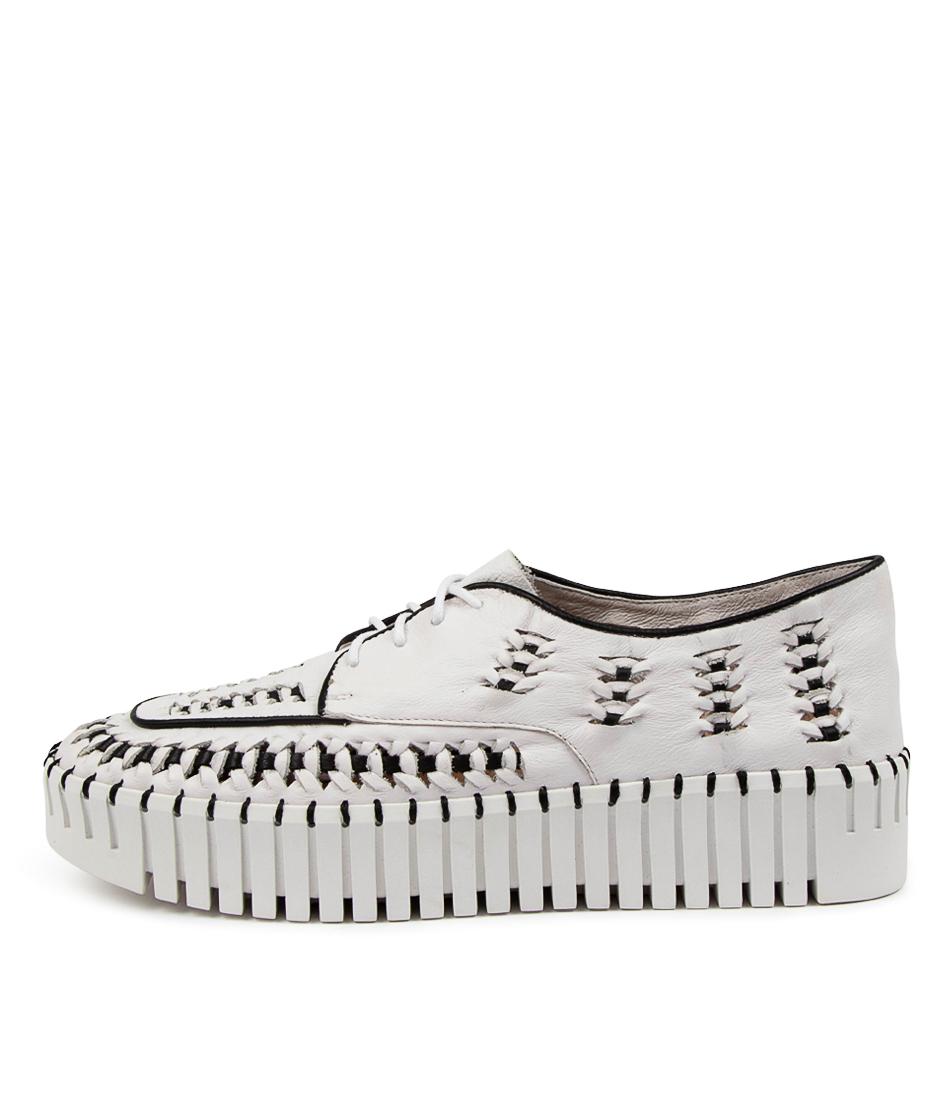 Buy Django & Juliette Brodies Dj White Black Sneakers online with free shipping