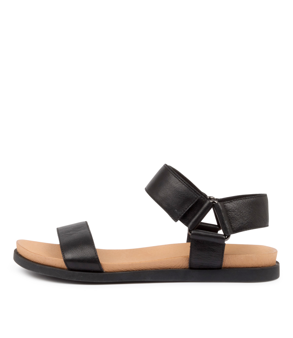 Buy Django & Juliette Charli Dj Black Sole Flat Sandals online with free shipping