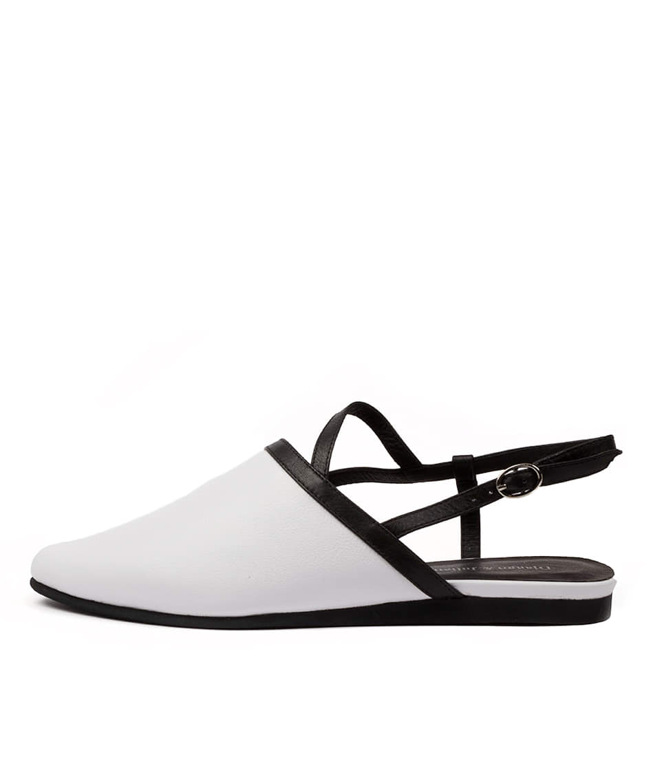 Buy Django & Juliette Contess Dj White Black Flats online with free shipping