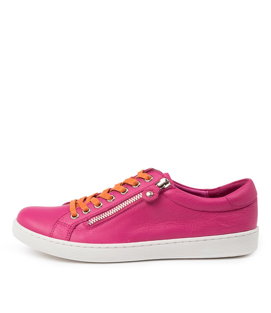 Buy Django & Juliette Donat Dj Fuchsia Orange Sneakers online with free shipping