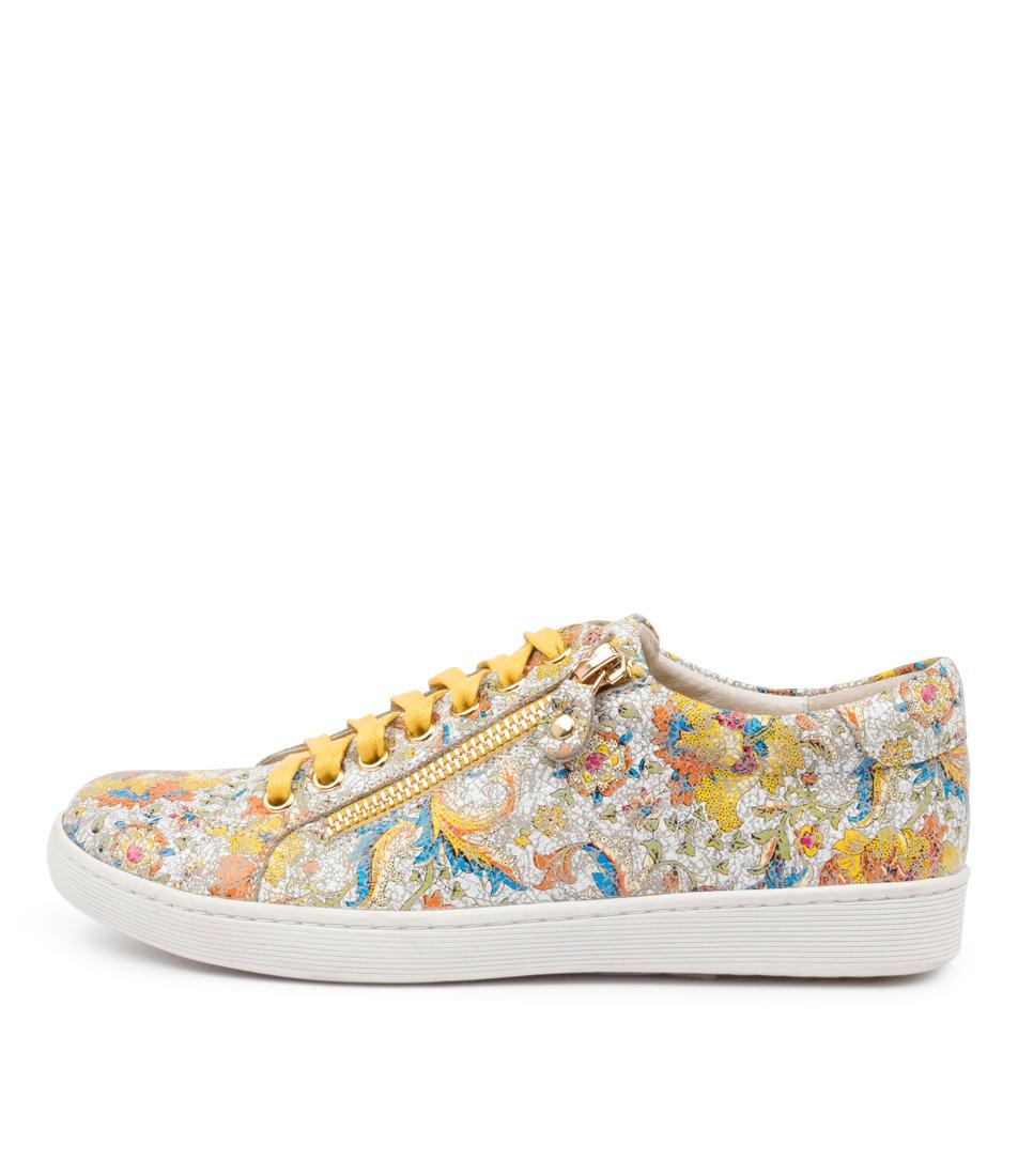 Buy Django & Juliette Donat Dj Yellow Mosaic Sneakers online with free shipping